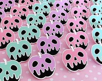 Pastel Poison Black Apple Enamel Pin - Your Color Choice