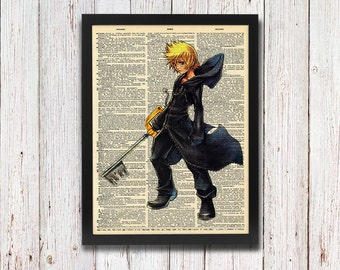 Kingdom Hearts Roxas Dictionary Art