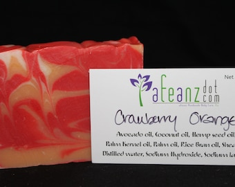 afeanz Orange Cranberry Handmade soap