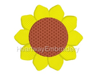 Mini Sunflower Embroidery Design 3 SIZES