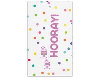 Rainbow Confetti Party Bag Tags   Made In Australia
