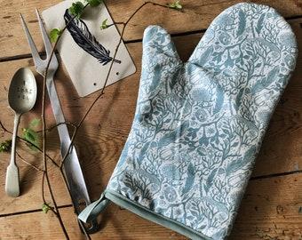 Single oven glove in Beachcomber
