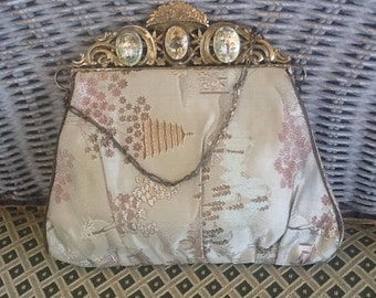 Vintage Asian Themed Purse with Medallions