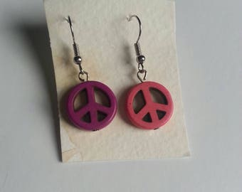Mix-and-Match Peace Sign Earrings