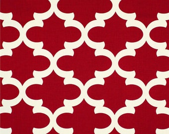 Red Valance. Red valence. Red Geometric Valance .Window Topper.