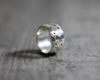 Southwestern | Triangle | Sterling Silver | Ring | Size 6