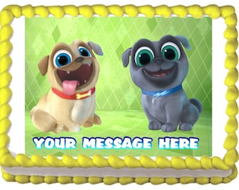 Puppy Dog Pals Edible Cake Cupcake Topper