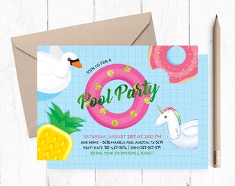 Pool party invite etsy pool party invitations pool party invitation pool party invitation printable pool party invitations stopboris Choice Image