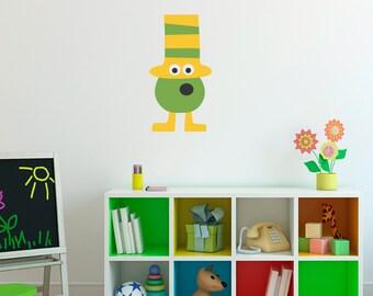 Monster Decal - Silly Monster Wall Art - Children Wall Decals - Printed Wall Sticker - 4