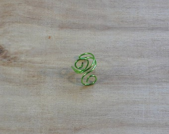 Swirly Ear Cuff Green