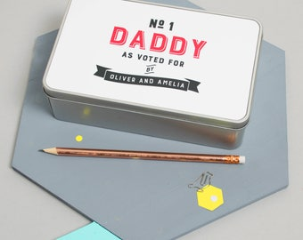 Personalised 'Number One Daddy' Tin