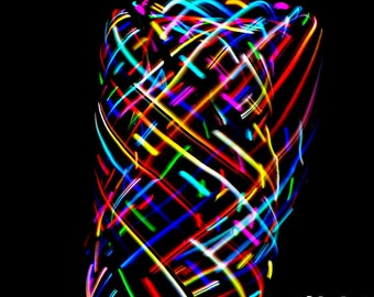 LED Hula Hoop Polypro HDPE Frenzy Color Changing By TheHoopSmiths