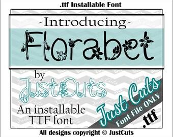 Florabet Font, floral font, floral alphabet, fancy font, fonts, ttf, flower font, florabet, pretty font, floral, flowers, pretty, garden