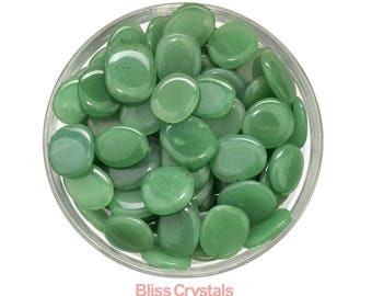 1 GREEN AVENTURINE Mini Palm Stone Tumbled Stone Healing Crystal and Stone for Prosperity Jewelry and Crafts #GA20