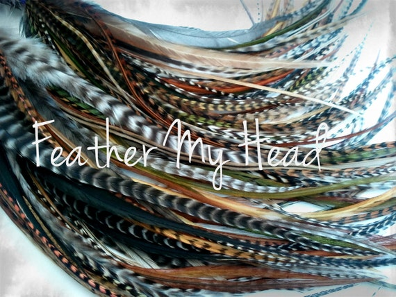 Feather hair extensions do it yourself diy kit 16 pc solutioingenieria Image collections