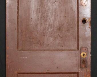 "9 avail 30""W Antique Vintage Interior Solid Wood Wooden Door Flat Recessed Panel"