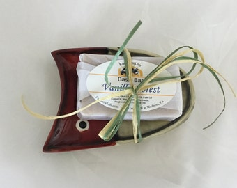 Fishing Lure Soap Dish Gift Set, Fishing Soap Gift, Ceramic Soap Dish, Father's Day Gift, Teacher Gift, Thank You Gift