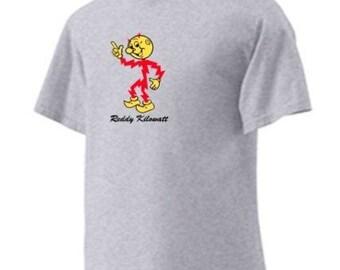Reddy Kilowatt Personalized T-shirt 100% Cotton Atomic Electricity Drop Ship Services