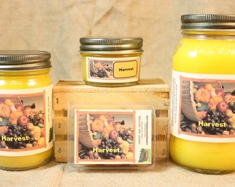 Harvest Candle and Wax Melts, Nature Scent Candle, Highly Scented Candles and Wax Tarts, Great Fall Scent Candle, Thanksgiving Candle