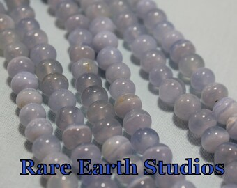 """Natural Chalcedony Agate  Beads 7mm+/- 8"""" strand 60215081"""
