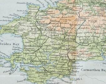 1948 Wales, United Kingdom (Great Britain) Vintage map