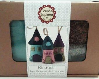 Creative Kit Corinne Lapierre felt, the houses of lavender