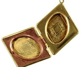 Brass Dimond-Shaped Locket