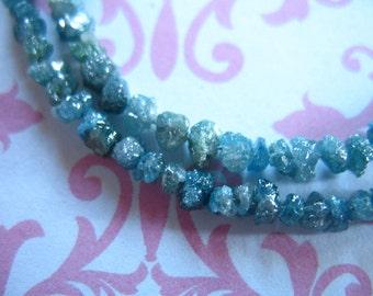 5-25 pcs, Blue DIAMOND Nuggets, Rough Diamonds, Raw Diamonds, Luxe AAA, 1.5-2 mm, april brides bridal weddings something blue  ddbl 23