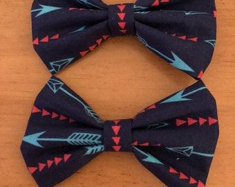 Arrow pigtail bows