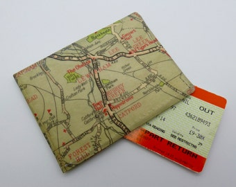 Oyster card holder, bus pass holder, travel card holder, wallet.London map print wallet.Lewisham map. wallet,Oyster card wallet, credit card