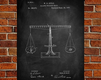 Weight scale patent etsy balance weighing scale fine art paper print scale patents weight scale art weight malvernweather Gallery