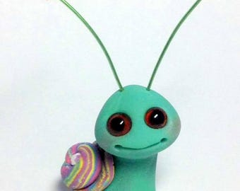 Opal Lollipop Sparkle Snail Trollfling Troll by Amber Matthies