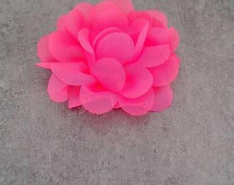Fuchsia organza fabric flower