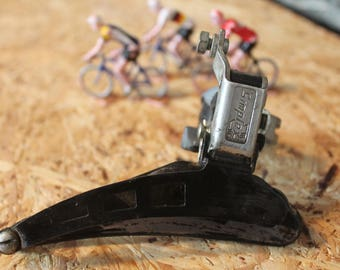 Retro black front derailleur brand SIMPLEX made in FRANCE for bicycle