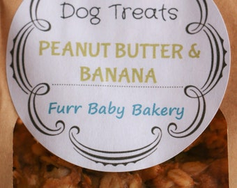 Peanut Butter & Banana Homemade Dog Treats