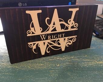 Last Name Desk Sign