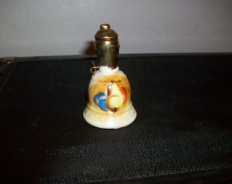 Vintage Porcelaine Bell Brinns Pittsburg Pa Made in Japan   Glass Bell Free Shipping in USA