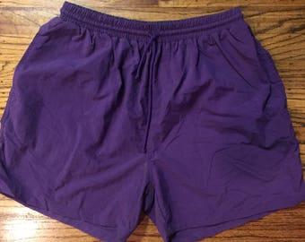 Vintage 90s GAP purple chubbies shorts chubbie trunks medium