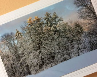 Winter Christmas Photography Card, Winter Landscape Holiday Cards,Christmas Card Photography, Winter Photography, Winter Solosice