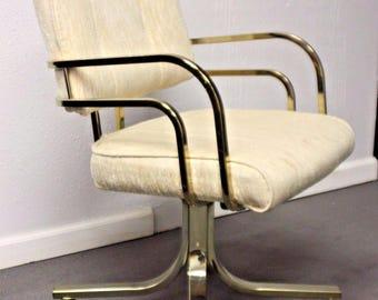 Hollywood Regency Brass Rolling Chair