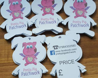 Personalised Shaped Gift Tags,Product Tags,Business Cards,Hanging Tags