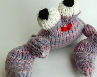 UnCrabby Crab Amigurumi Knitting Plush Toy Pattern PDF Digital Download