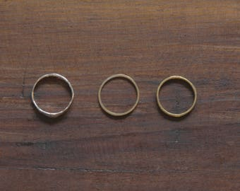 Stacking Rings (Bronze, Silver, Guitar String )