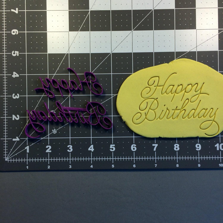 Happy Birthday Cursive 100 Stamp