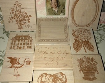 Anna Griffin set of 51 Rubber Stamp Lot And Anna Griffin DVD Pre Owned very good condition