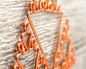 Sierpinski Triangle - Fractal Necklace in Orange