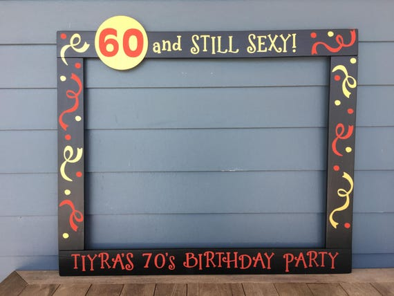 30th Photo Booth Frame 40th Birthday Party Prop 50th