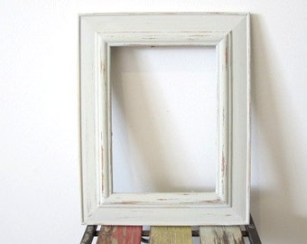 Rustic Frame Beach Distressed Frame Eggshell White Wooden 5x7 Photo Frame Shabby chic picture frame