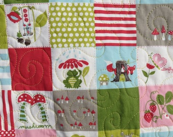 SALE Whole cloth Quilt Crib Toddler Bed Lap Patchwork Monaluna 100% GOTS Certified organic fabric