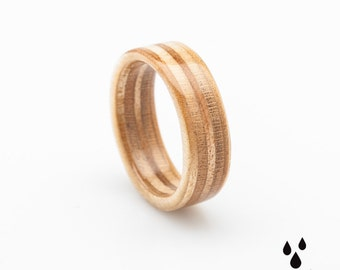 Wooden Ring- Colorful - Bentwood  Ring - Handmade -  Wedding Ring - Gift for her - Gift for him - Wooden Jewelry - Wood Ring - Wood Jewelry